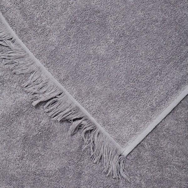 Sada 2 šedých bavlněných osušek Casa Di Bassi Bath, 100 x 160 cm