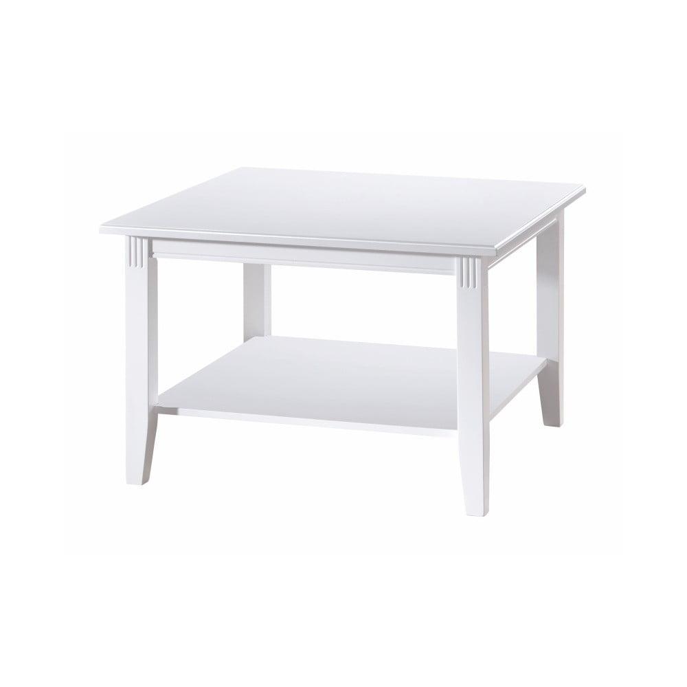 Bílý konferenční stolek z dubového dřeva Folke Wittskar, 80x 80cm