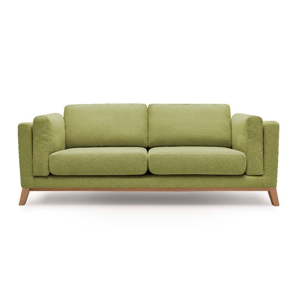 Jasnozielona sofa 3-osobowa Bobochic Paris Enjoy