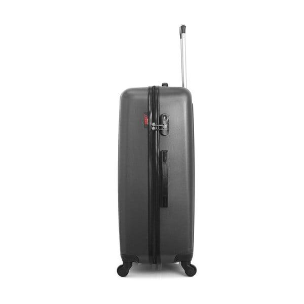 Tmavě šedý cestovní kufr na kolečkách Hero Ioulia, 97 l