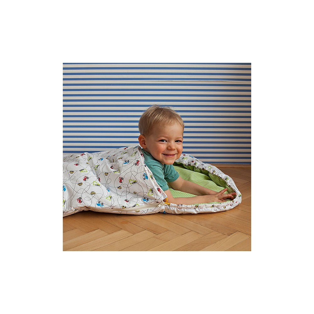 Dětský spací pytel Bartex Design Autíčka, 70 x 165 cm