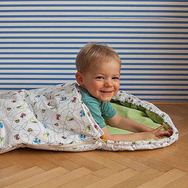 """Gyerek hálózsák, """"Autók"""" motívum, 70 x 165 cm - Bartex Design"""