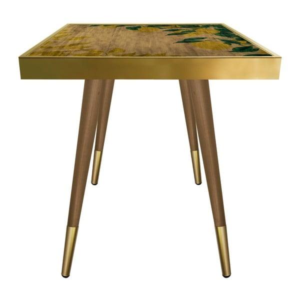 Príručný stolík Caresso Lemon Square, 45 × 45 cm
