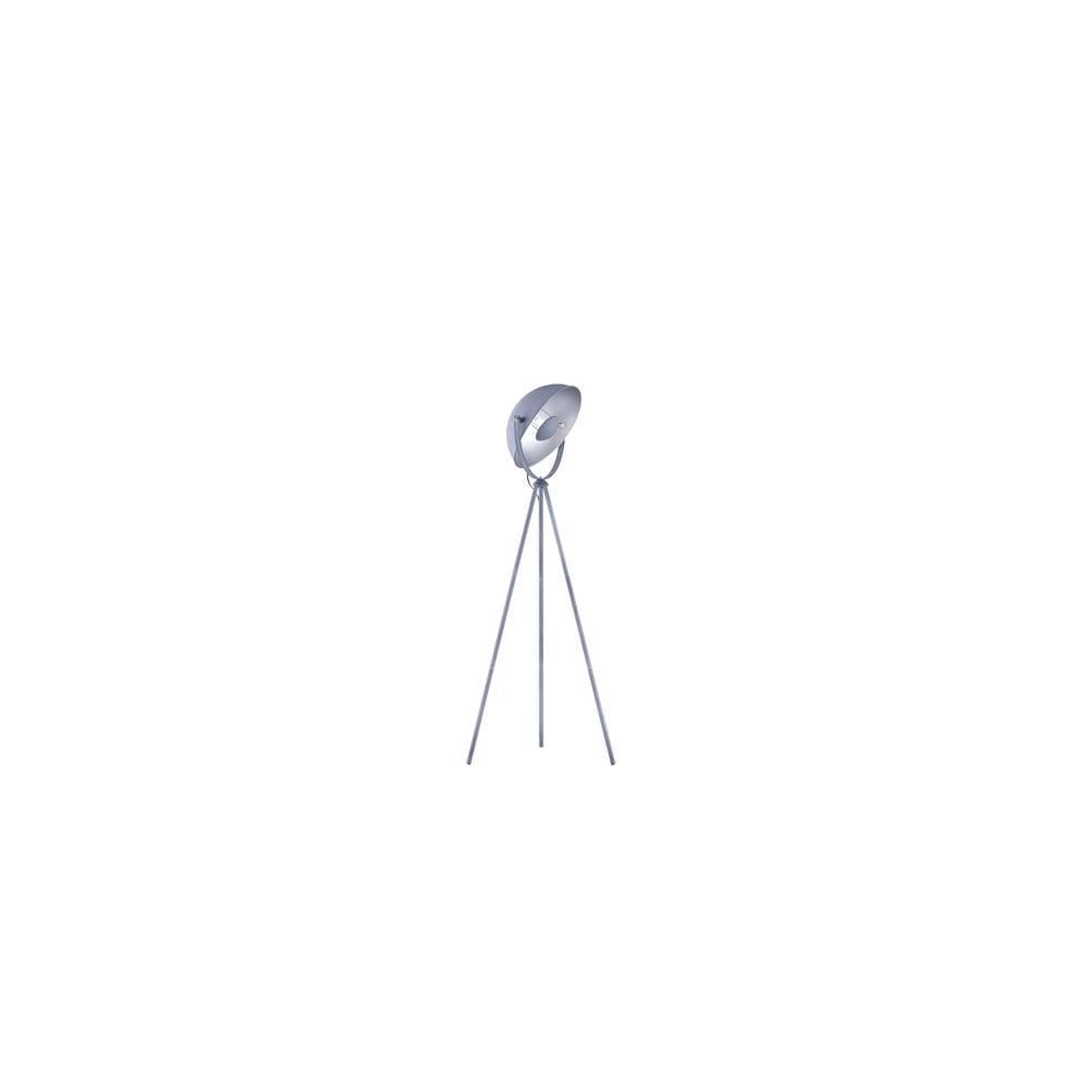 Šedá kovová stojací lampa Trio Chewy, výška 160 cm
