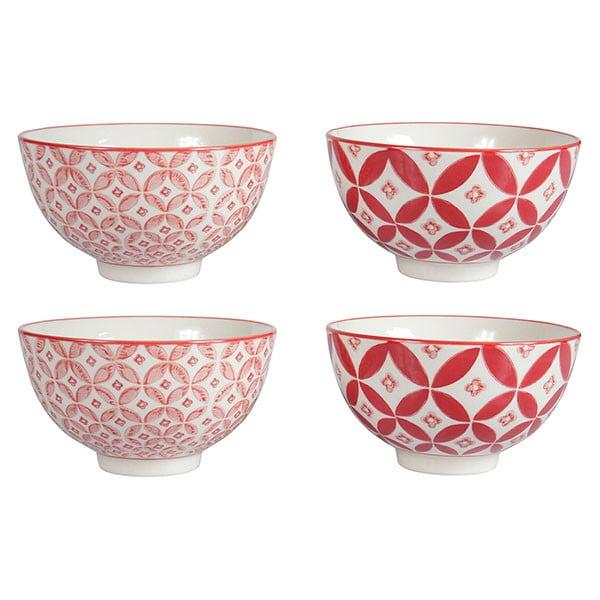 Sada 4 porcelánových misek Rubis