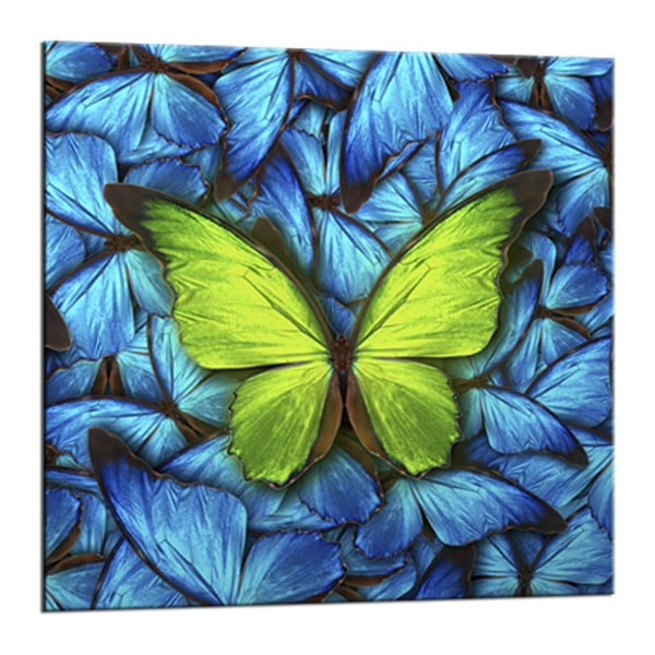 Glasspik Blue Butterfly fali kép, 20 x 20 cm - Styler