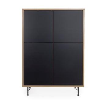 Dulap Tenzo Flow, 111 x 153 cm, negru de la Tenzo