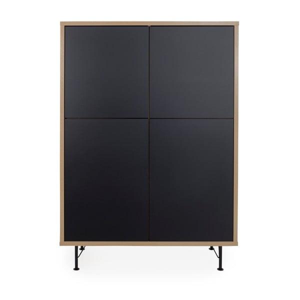 Černá skříň Tenzo Flow, 111x153cm