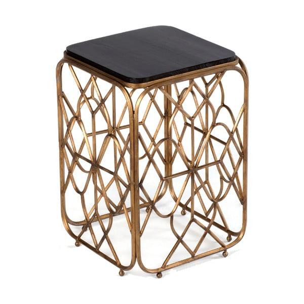 Příruční stolek Thai Natura Gold Wires