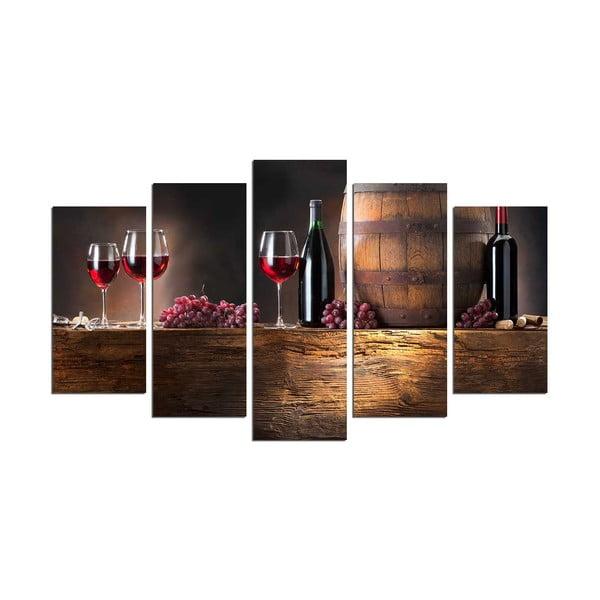 Tablou din mai multe piese Wine Food