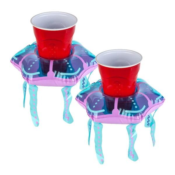 2 db-os, medúza formájú, felfújható úszó italtartó szett - Big Mouth Inc.