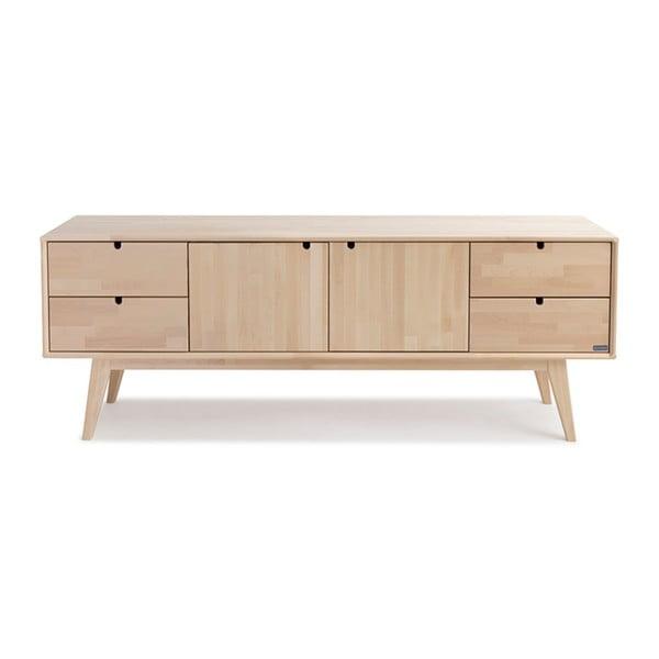 Ručně vyráběný TV stolek z masivního březového dřeva Kiteen Notte