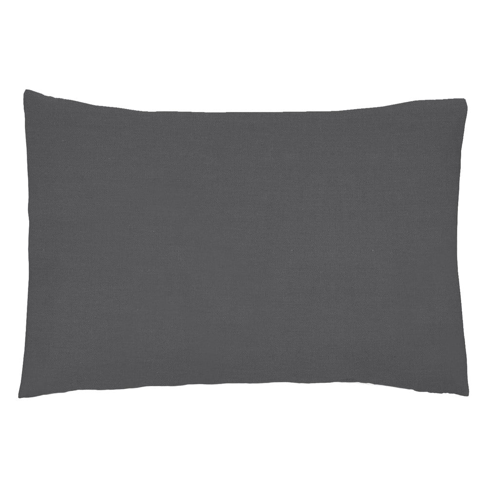 Sada 2 tmavě šedých povlaků na polštář z bavlněného perkálu L'Officiel Interiors Les Essentiels, 50 x 70 cm
