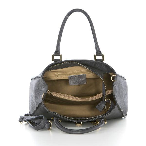 Kožená kabelka Federica Bassi Laura, šedá