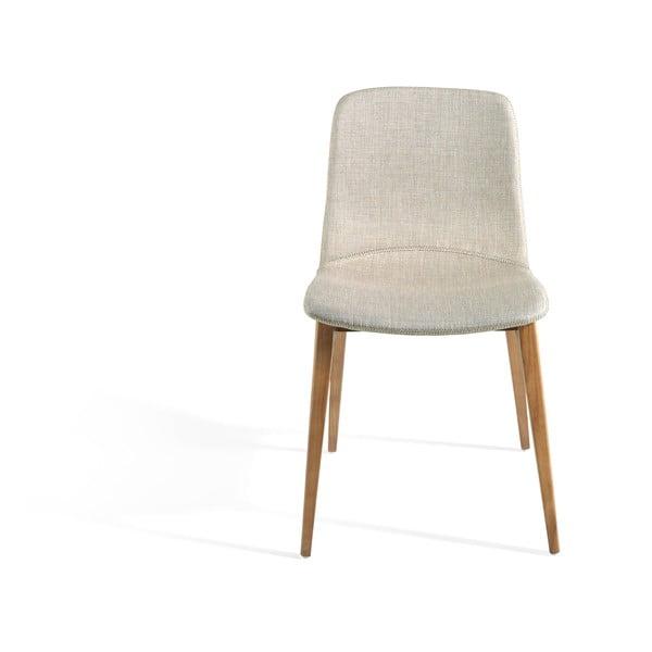 Szare krzesło z drewnianymi nogami Ángel Cerdá Bona