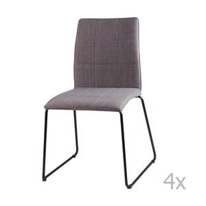 Sada 4 světle šedých jídelních židlí sømcasa Malina