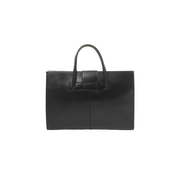 Kožená kabelka Montefalco, černá