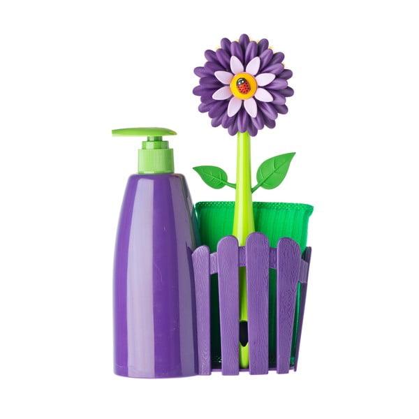 Set na mytí nádobí s dávkovačem Vigar Violet