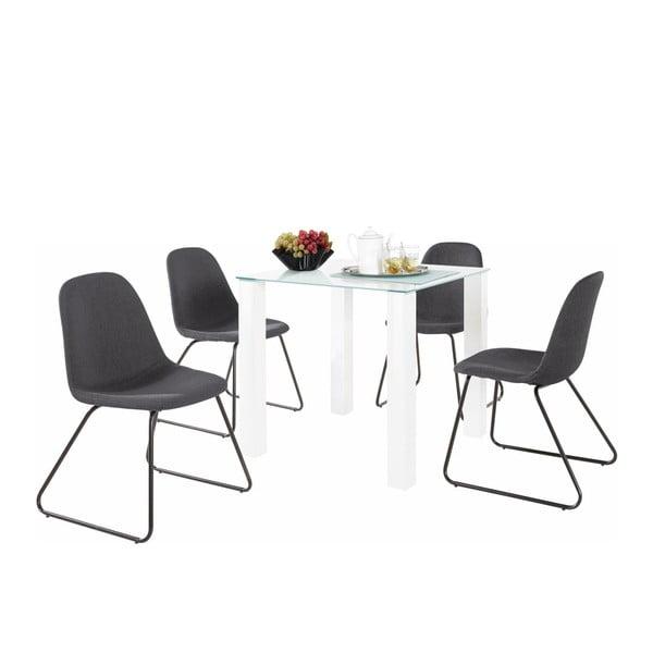 Sada stolu a 4 tmavě šedých židlí Støraa Dante Colombo