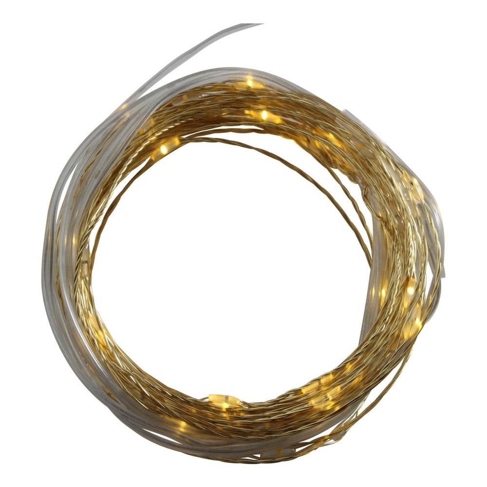 Světelný LED řetěz ve zlaté barvě Opjet Paris Argente, délka4m