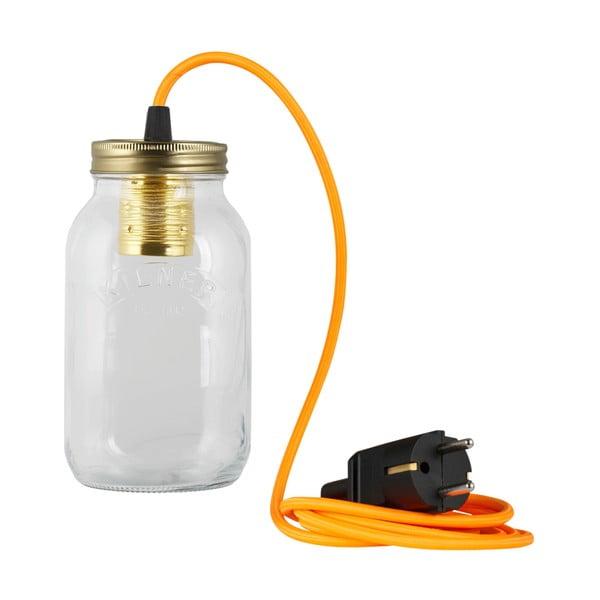 Svítidlo JamJar Lights, zářivě oranžový kulatý kabel