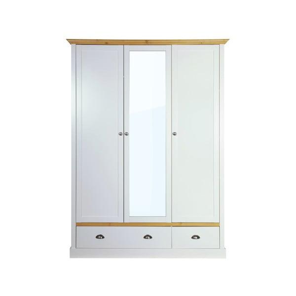 Sivo-biela šatníková skriňa Steens Sandringham, 192 × 148 cm