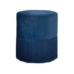 Modrá čalouněná stolička Native Mystique, ⌀ 38 cm