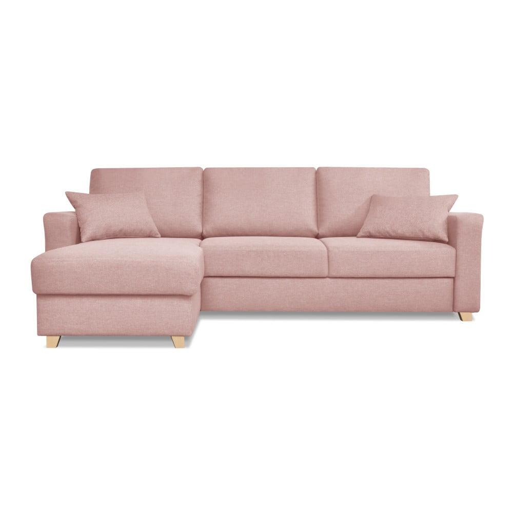 Růžová rozkládací pohovka Cosmopolitan design Nice