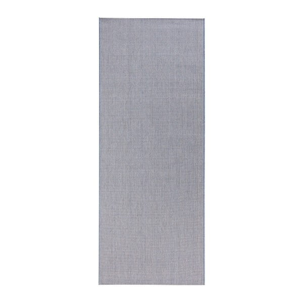 Modrý běhoun vhodný do exteriéru Bougari Match, 80x200cm