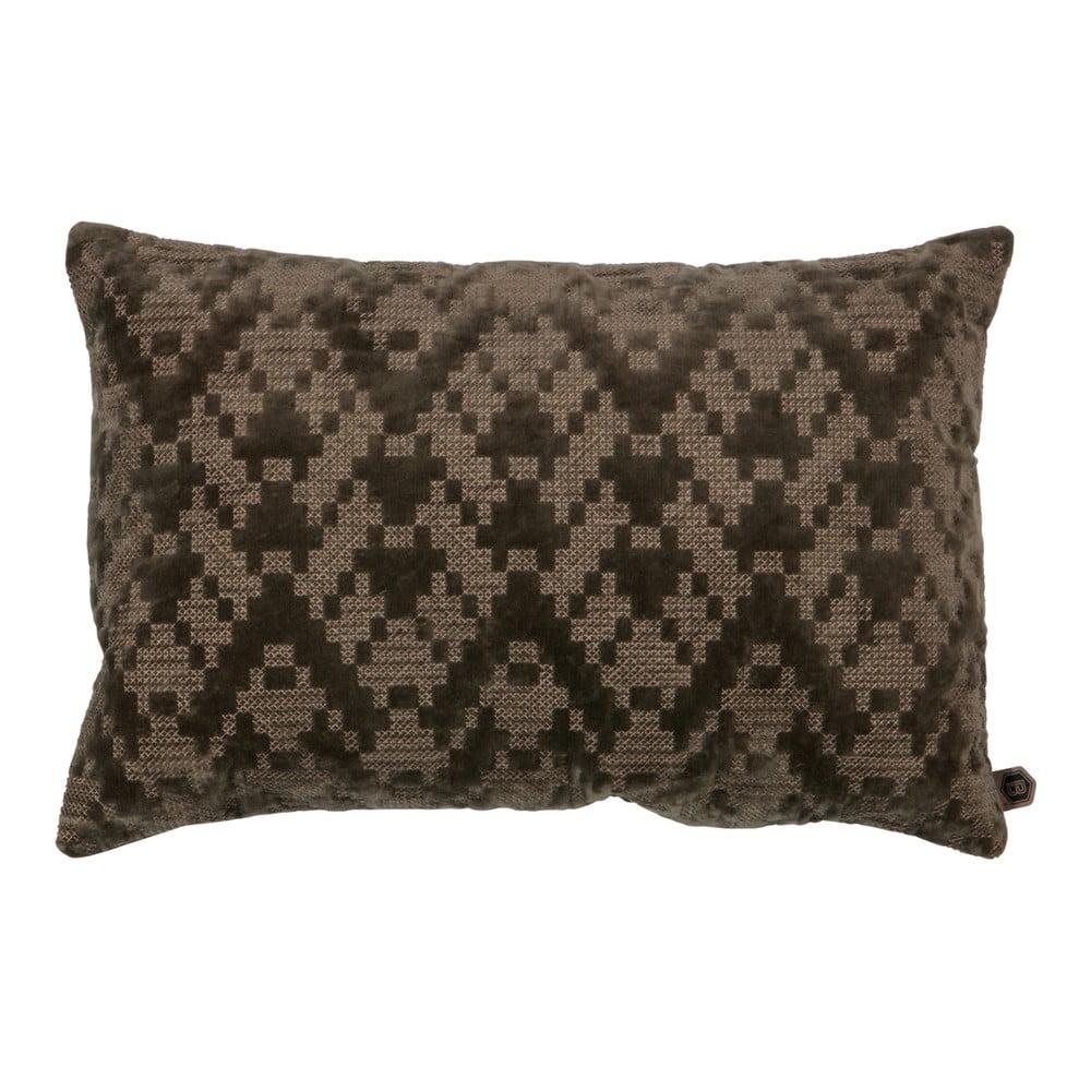 Hnědý bavlněný polštář BePureHome, 40 x 60 cm