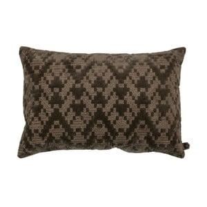 Hnědý bavlněný polštář BePureHome, 40x60cm