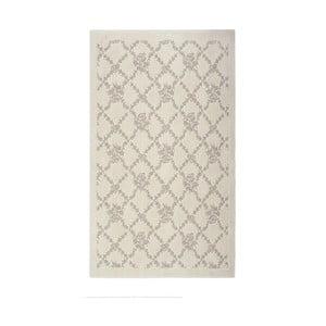 Krémový bavlněný koberec Oni, 60 x 90 cm