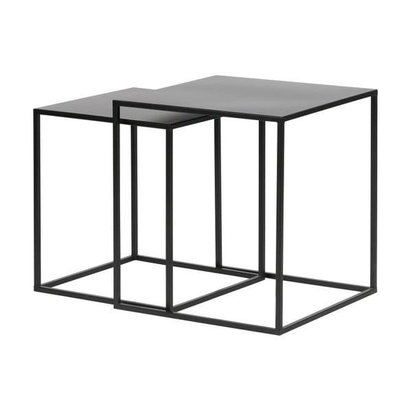 Ziva 2 db fekete tárolóasztal - WOOOD
