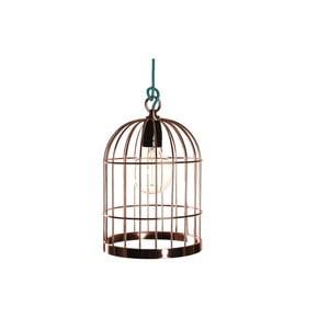 Závěsné světlo v měděné barvě Filament Style Bird Cage