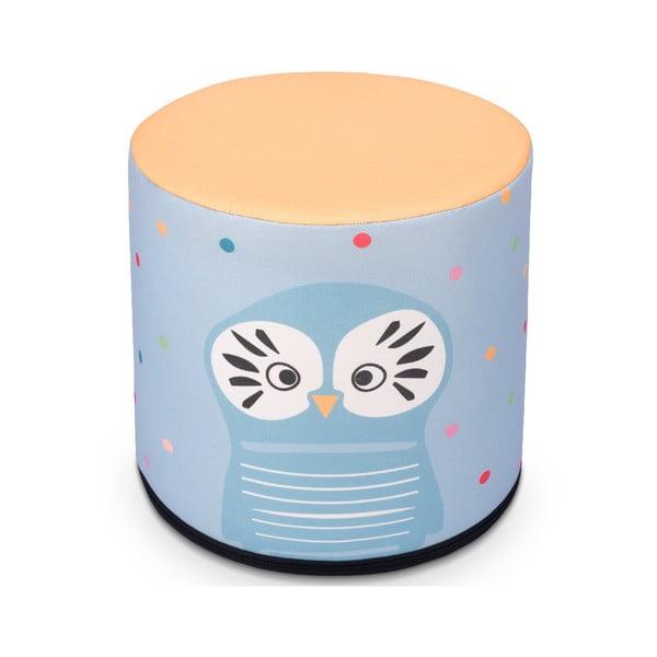 Puf pentru copii KICOTI Owl, 40 x 40 cm, multicolor
