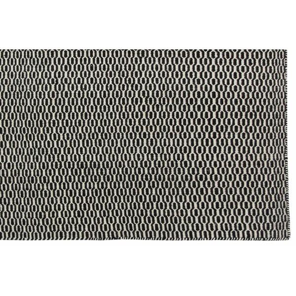 Vlněný koberec Flat, 100x150 cm, černý
