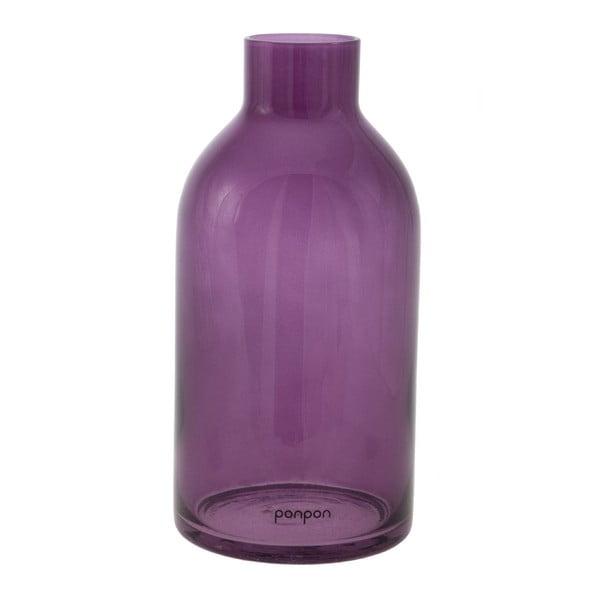 Váza/svícen Bottle 25,5 cm, fialová