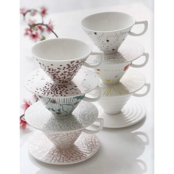 Ručně malovaný porcelánový šálek Seasons Luglio
