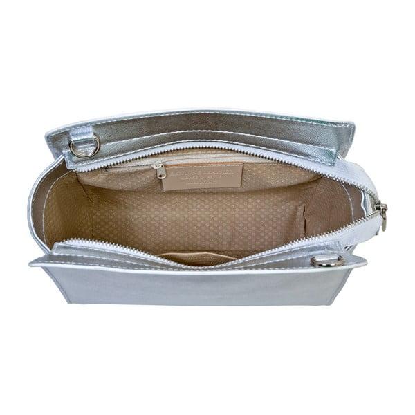 Stříbrná kabelka z pravé kůže Andrea Cardone Mattia