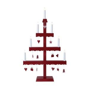Svícen s LED světýlky Dingla, červený