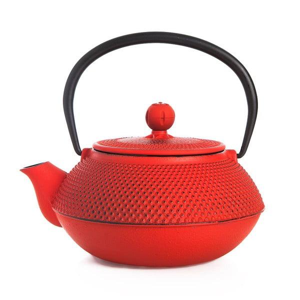 Červená liatinová čajová kanvica Bambum Taşev Linden, 750 ml