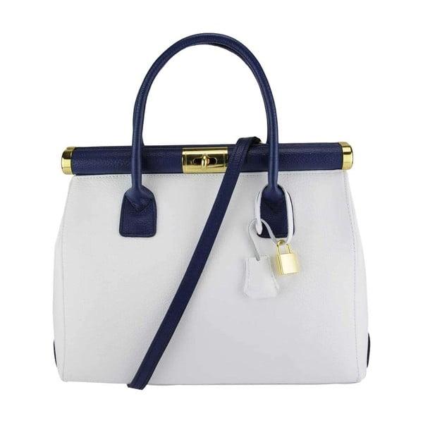 Kožená kabelka Bast White & Blue