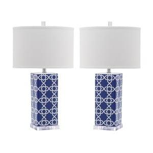 Sada 2 stolních lamp s modrou základnou Safavieh Reagan