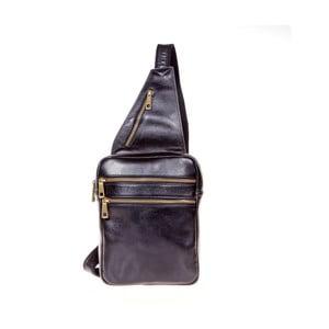 Černý kožený batoh přes rameno Italia in Pogress Martino