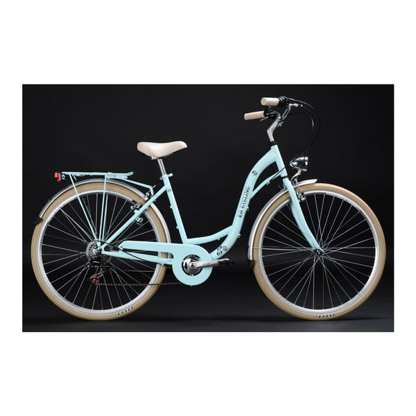 Kolo City Bike Casino Light Blue 28'', výška rámu 48 cm, 6 převodů