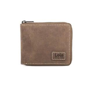 Kožená peněženka Lois Brownie, 10,5x8,5 cm