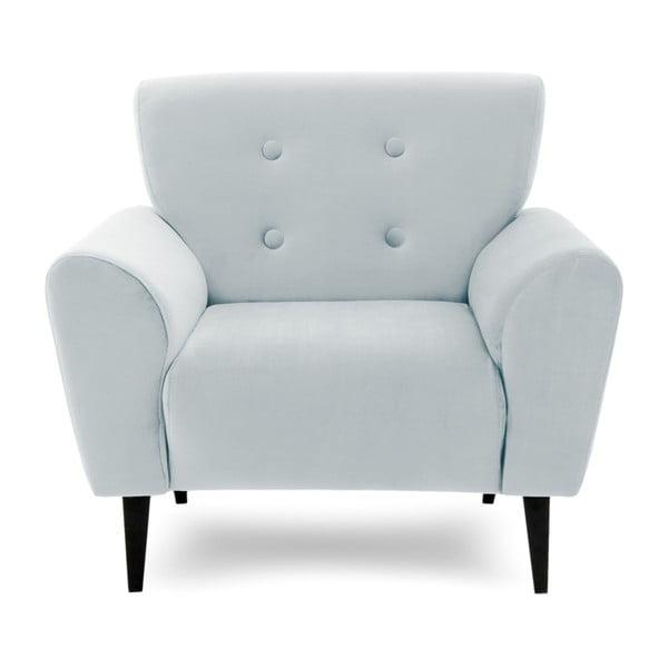 Popielaty fotel Vivonita Kiara