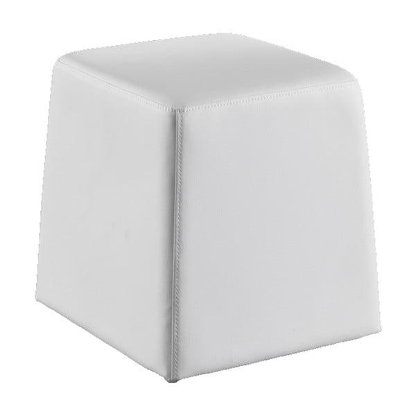 Bílý puf z ekologické kůže Tomasucci Key