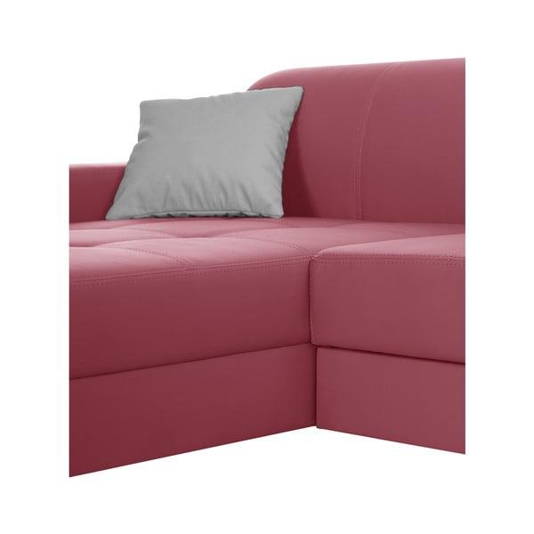 Růžová pohovka Modernist Symbole, levý roh