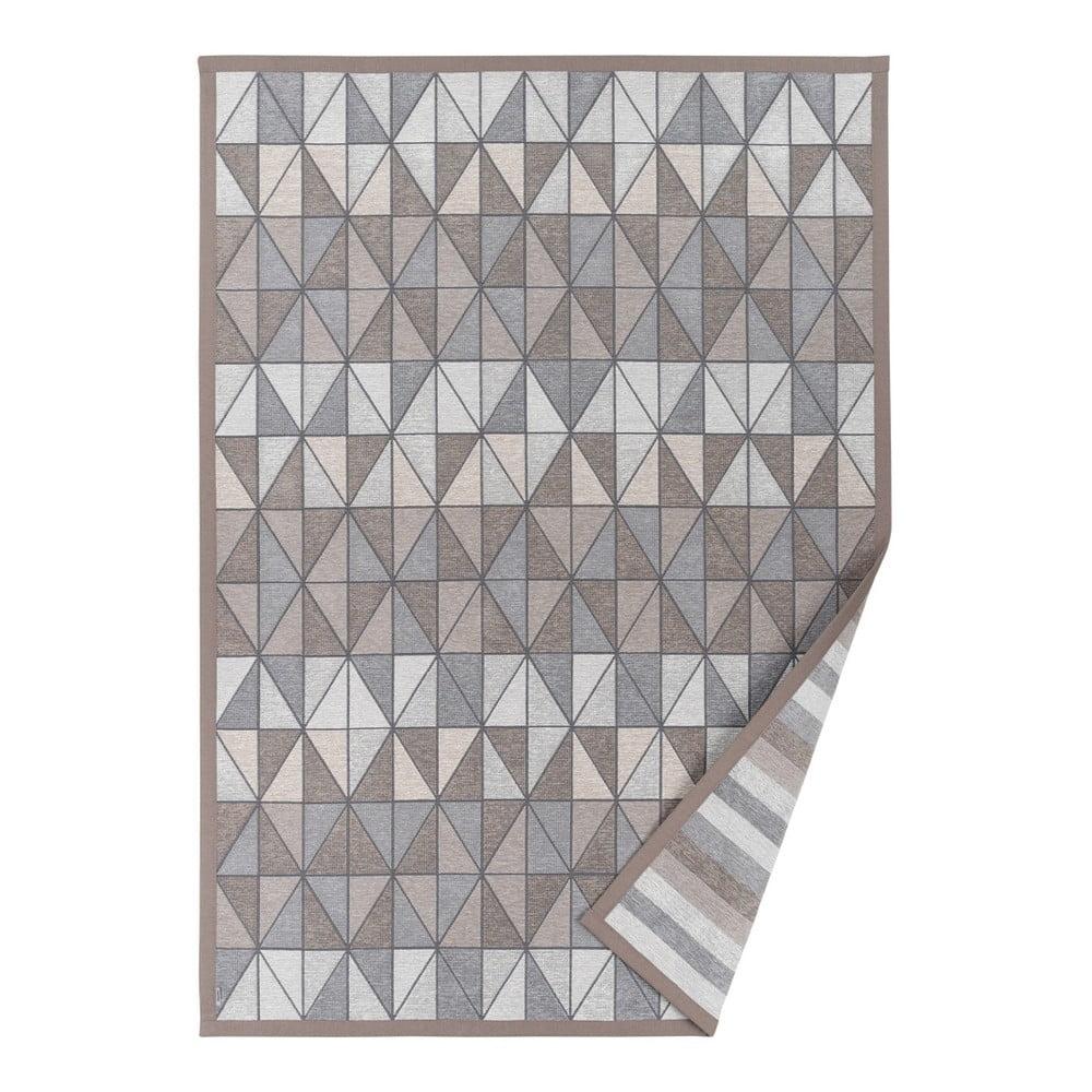 Šedobéžový vzorovaný oboustranný koberec Narma Treski, 70 x 140 cm